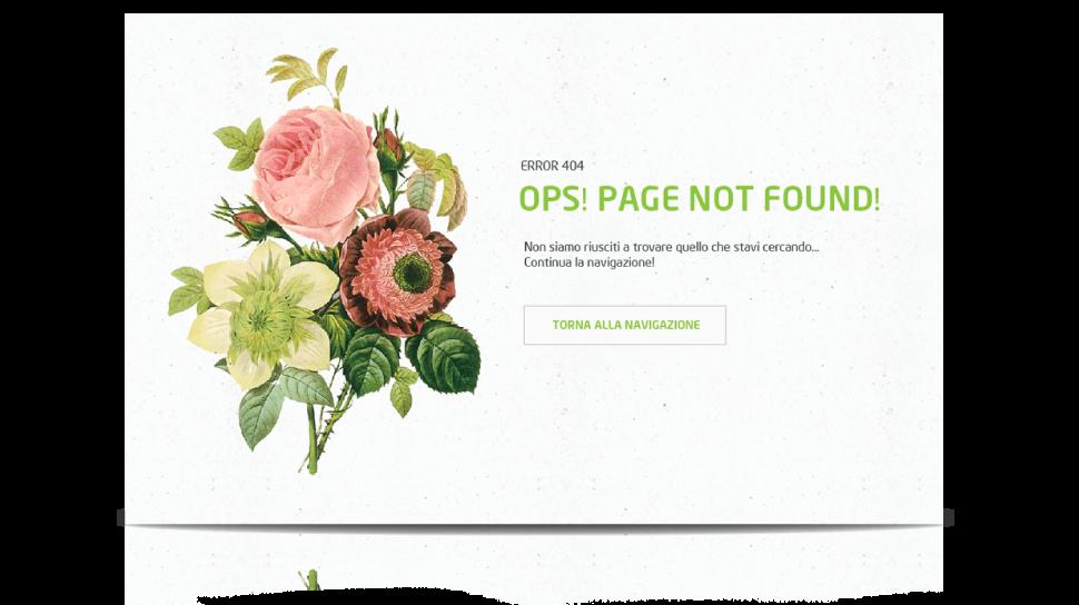Pagina 404 web site inherba