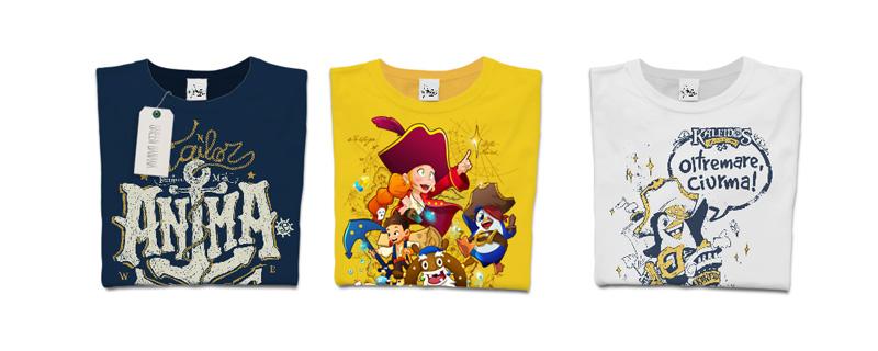 T-shirt animatore, Kaleidos e oltremare ciurma